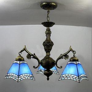 シャンデリア ステンドグラスランプ ティファニーライト 照明器具 リビング照明 吹き抜け照明 3灯 BEH3682