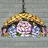 ペンダントライト ステンドグラスランプ ティファニーライト リビング照明 ダイニング照明 寝室照明 2灯 D40cm BEH2954