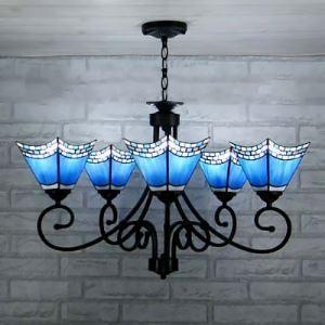 ステンドグラス シャンデリア ティファニーライト 照明器具 5灯 BEH403683