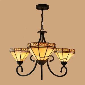 シャンデリア ステンドグラスランプ ティファニーライト 照明器具 リビング照明 吹き抜け照明 3灯 BEH3711