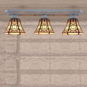 ティファニーライト シーリングライト ステンドグラス 天井照明 3灯 BEH404007