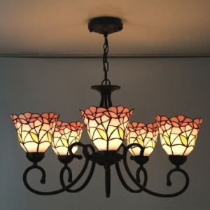 ステンドグラス シャンデリア ティファニーライト 照明器具 5灯 BEH403218