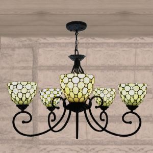 ステンドグラス シャンデリア ティファニーライト 照明器具 5灯 BEH404265