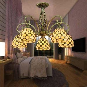 ステンドグラス シャンデリア ティファニーライト 照明器具 5灯 BEH404787