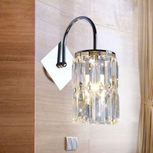 壁掛けライト ウォールランプ クリスタル照明 照明器具 ブラケット 円柱型 1灯