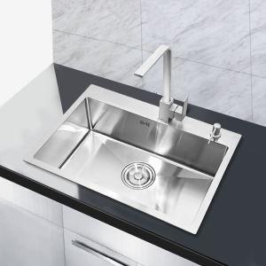 キッチン用流し台(蛇口なし) 台所の流し台 手作りシンク #304ステンレス製流し台 60*45cm