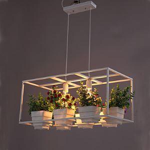 ペンダントライト 天井照明 照明器具 鉢植え照明 造花付き 2灯 LB17787