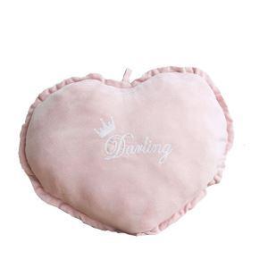 クッションカバー 抱き枕カバー 腰まくら Anna ハート型 ピンク&ホワイト 11-DP-012