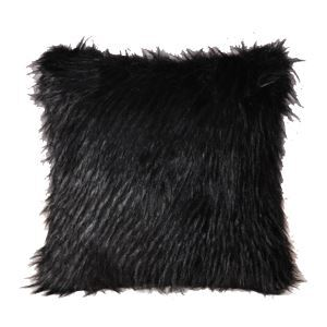 クッションカバー 抱き枕カバー フワフワ 人工毛皮 黒色 14-DP-021