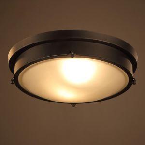 シーリングライト リビング照明 レトロな照明器具 天井照明 メタル製 2灯