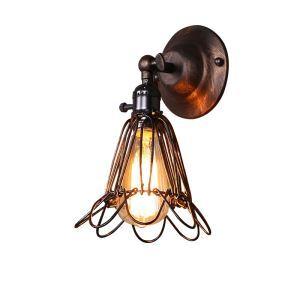 壁掛けライト ウォールランプ 玄関照明 階段照明 カゴ型 1灯 CYBDXTL