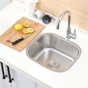 キッチンシンク(蛇口なし) 台所の流し台 #304ステンレス製流し台 41*36cm