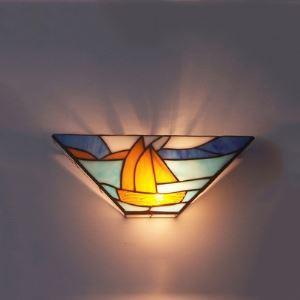ティファニーライト 壁掛けライト 壁掛け照明 段階照明 ステンドグラス製 1灯 BEH404034
