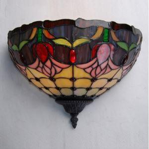 ティファニーライト 壁掛けライト 壁掛け照明 ウォールランプ ステンドグラス製 半円形 1灯 BEH403019