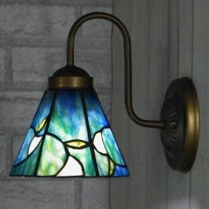 ティファニーライト 壁掛けライト 壁掛け照明 ウォールランプ ステンドグラス製 1灯 BEH403276