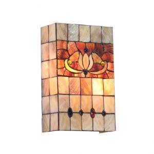 ティファニーライト 壁掛けライト 壁掛け照明 ウォールランプ ステンドグラス製 2灯 BEH299938