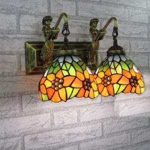 ティファニーライト 壁掛けライト 壁掛け照明 ウォールランプ ステンドグラス製 2灯 BEH403099