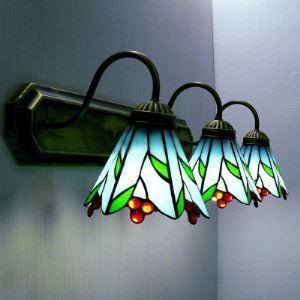 ティファニーライト 壁掛けライト 壁掛け照明 ウォールランプ ステンドグラス製 3灯 BEH403280