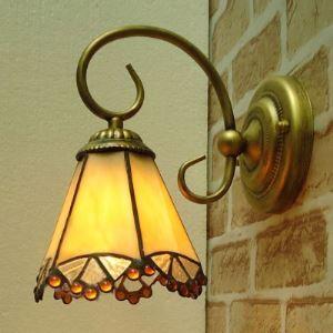 ティファニーライト 壁掛けライト 壁掛け照明 ウォールランプ ステンドグラス製 1灯 BEH403317