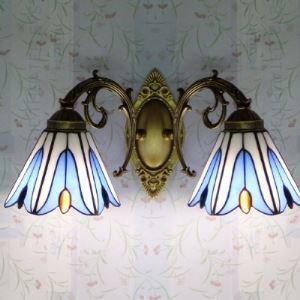 ティファニーライト 壁掛け照明 ステンドグラスランプ 照明器具 ウォールランプ 2灯 BEH403948