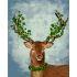 【天才画家】数字絵画 DIY手描き絵画 塗り絵 ハンドメイド油絵 絵具セット 鹿&緑葉 40*50