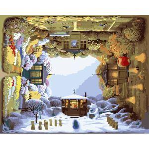 【大人の塗り絵】数字絵画 DIY手描き絵画 塗り絵 ハンドメイド油絵 絵具セット 四季 40*50