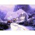 【天才画家】数字絵画 DIY手描き絵画 塗り絵 ハンドメイド油絵 絵具セット 雪景色 30*40
