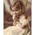 【天才画家】DIY手描き絵画 塗り絵 ハンドメイド絵画 油絵具セット付き 祈る女の子 40*50