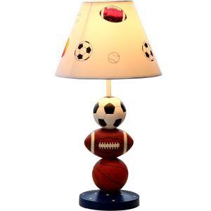 テーブルランプ 卓上照明 読書灯 子供屋用照明 サッカー型台座 A