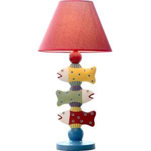テーブルランプ 卓上照明 読書灯 子供屋用照明 魚型台座