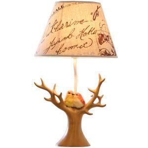 テーブルランプ 卓上照明 読書灯 子供屋用照明 大木型台座