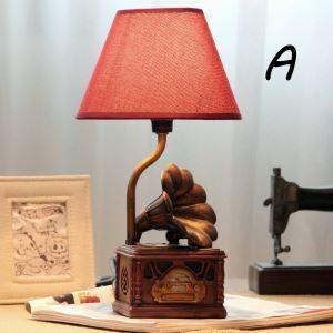 テーブルランプ 卓上照明 読書灯 子供屋用照明 レコードプレーヤー型台座 A/B