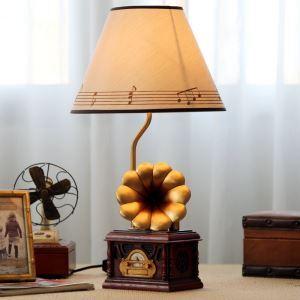 テーブルランプ 卓上照明 読書灯 子供屋用照明 レコードプレーヤー型台座 A