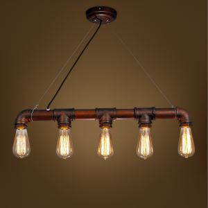 ペンダントライト 工業照明 天井照明 パイプ照明 照明器具 5灯 CY-DD-SG