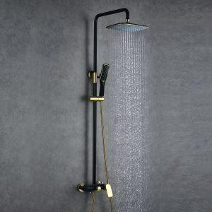 レインシャワーシステム シャワーバス ヘッドシャワー+ハンドシャワー+蛇口 混合栓 ORB&Ti-PVD 016