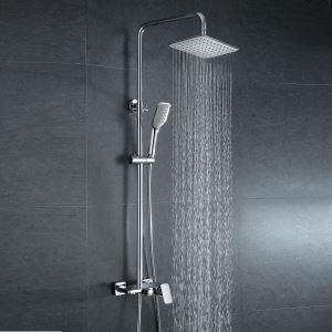 レインシャワーシステム シャワーバス ヘッドシャワー+ハンドシャワー+蛇口 混合栓 クロム 020