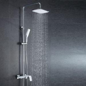 レインシャワーシステム ヘッドシャワー+ハンドシャワー+蛇口 真鍮製 クロム 021