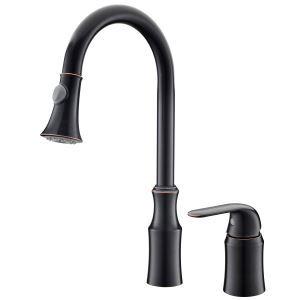 キッチン蛇口 台所蛇口 引出し式水栓 冷熱混合栓 真鍮製 ORB HYS03HYS0