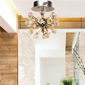 シーリングライト 玄関照明 天井照明 K9クリスタル グローブ形 G4-6灯