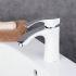バス水栓 洗面蛇口 混合水栓 水道蛇口 浴室用 真鍮製 白色 BL0335W