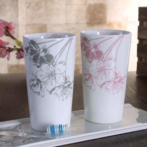 浴室用品 サニタリー容器 陶器製 桜 4/5点セット BE065