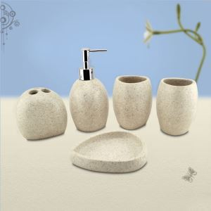 浴室用品 サニタリー容器 樹脂製 創造的 5点セット BE084
