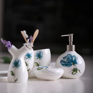 浴室用品 サニタリー容器 陶器製 ヨーロッパ風 創造的 5点セット BE119