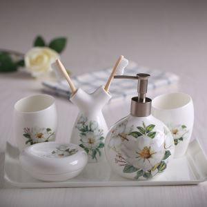 浴室用品 サニタリー容器 陶器製 ヨーロッパ風 創造的 5点セット BE123