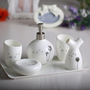 浴室用品 サニタリー容器 陶器製 ヨーロッパ風 創造的 5点セット BE127