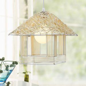 ペンダントライト 玄関照明 子供屋照明 天井照明 藤製照明器具 1灯