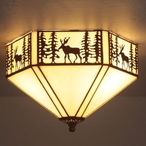 ティファニーライト シーリングライト ステンドグラス 天井照明 2灯 BEH403969