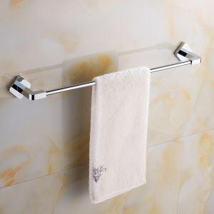 タオル掛け 浴室タオルバー 壁掛けハンガー タオル収納 バスアクセサリー オシャレ クロム JWA029