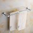 タオル掛け 浴室二重タオルバー 壁掛けハンガー バスアクセサリー オシャレ クロム JWA033