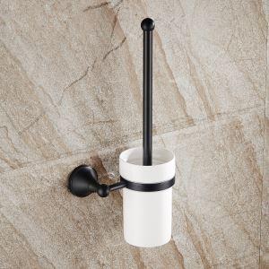 トイレブラシホルダー トイレ用品 トイレブラシ&ポット付き 真鍮製 ヴィンテージ ORB